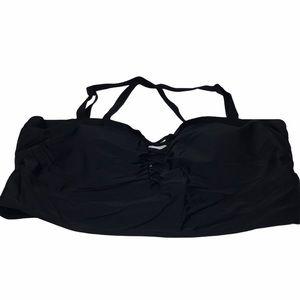 Torrid Black Criss Cross Bikini Top Sz3